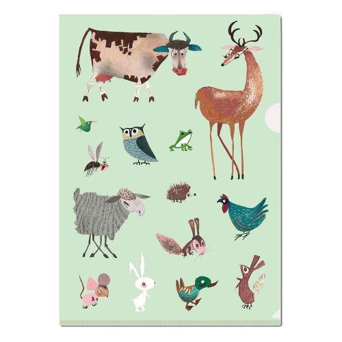 L map A4 met dieren