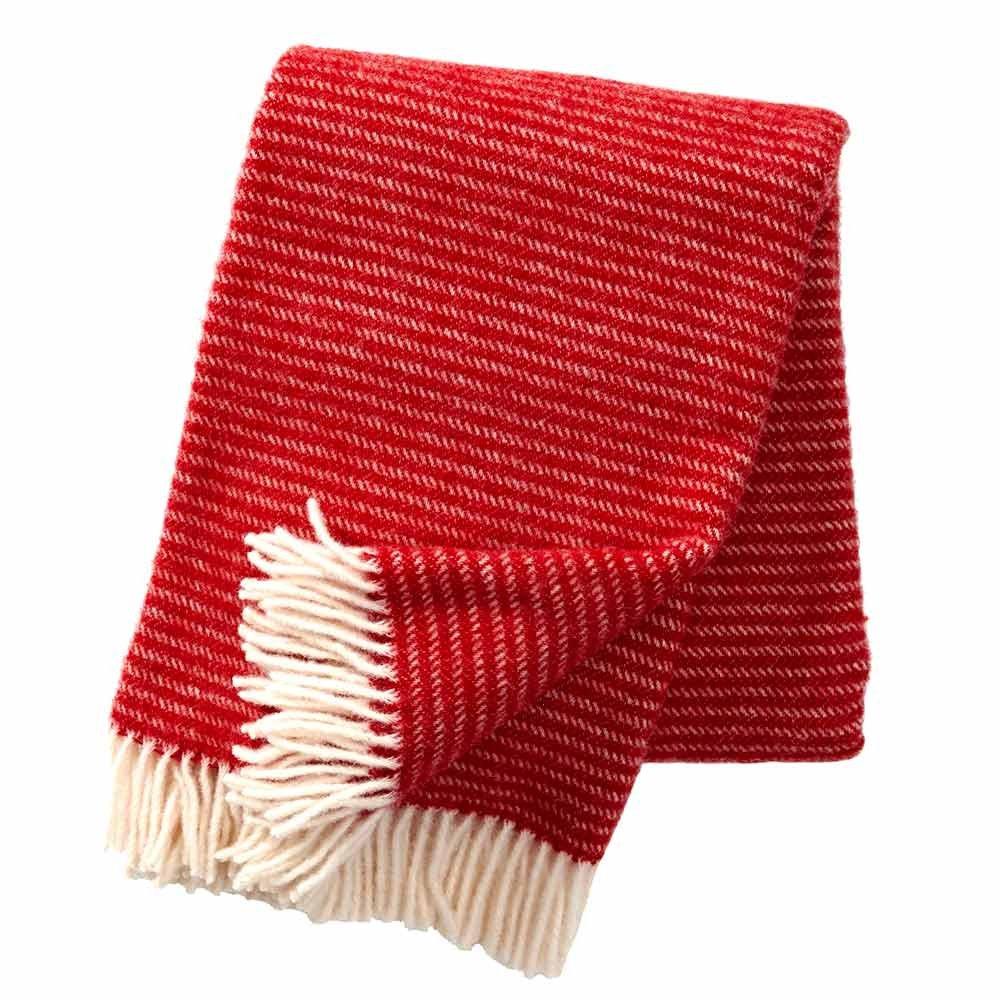 Klippan plaid wol Ralph - rood