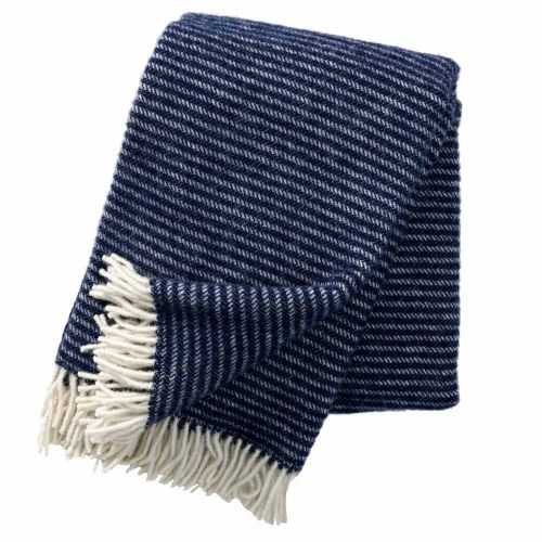Klippan plaid wol Ralph - blauw