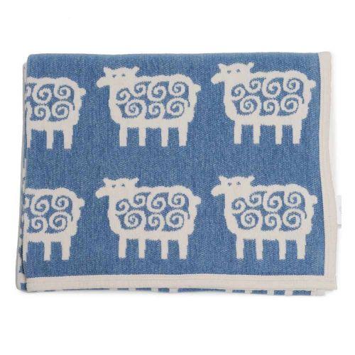 klippan deken schaapje blauw