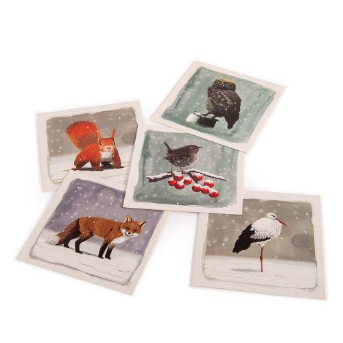 Winter kaartenset Myrte