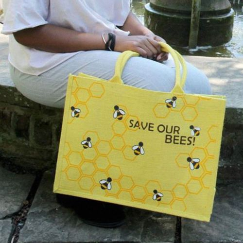Jute boodschappentas 'Save our Bees'